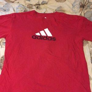 Adidas logo T-shirt size 2 XL red black white